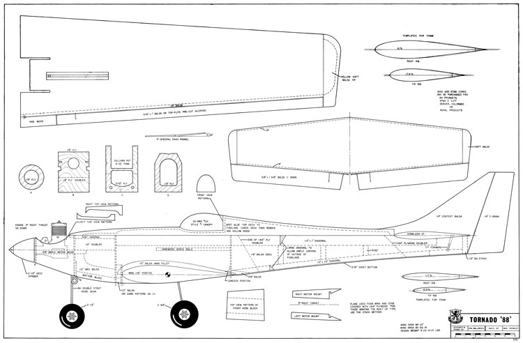 Tornado 88-RCM-09-68 370 model airplane plan