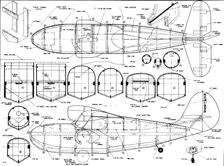 Trimmer model airplane plan