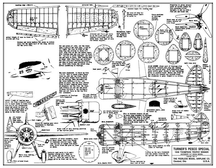 Turners Pesco Special Race model airplane plan