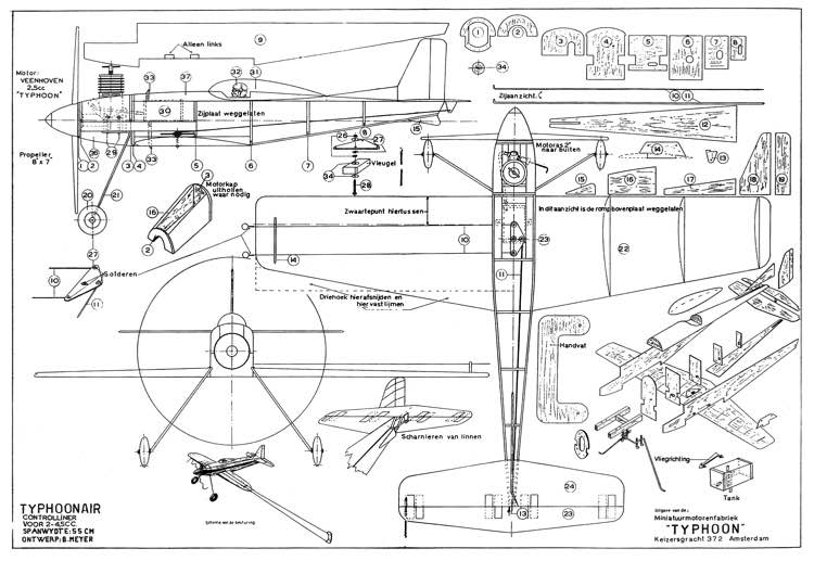 TyphoonAir model airplane plan