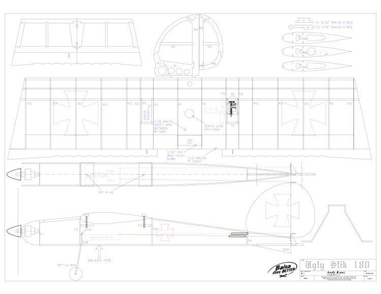 Ugly Stick 180 model airplane plan