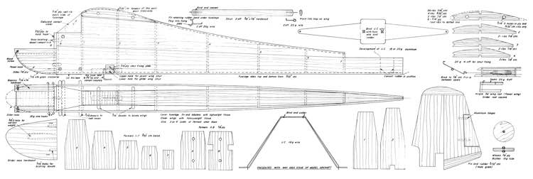 Upbury Convertible model airplane plan