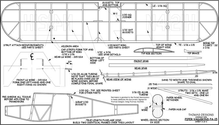 Vagabond model airplane plan