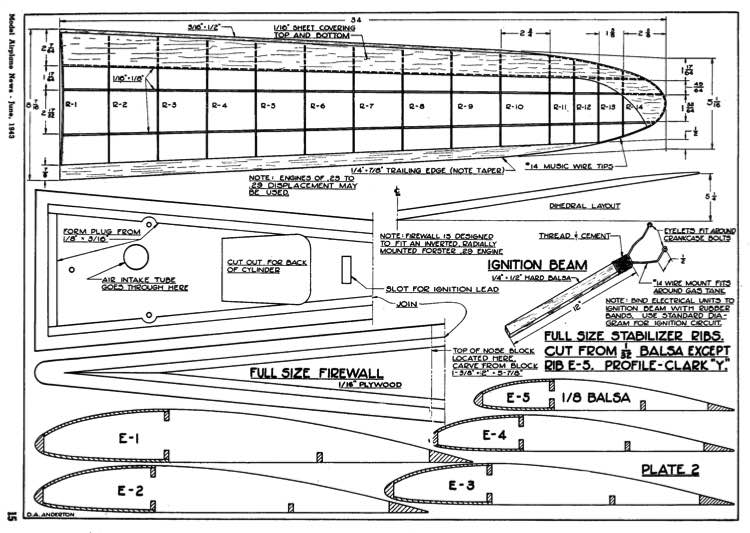 Vee Gas p2 model airplane plan