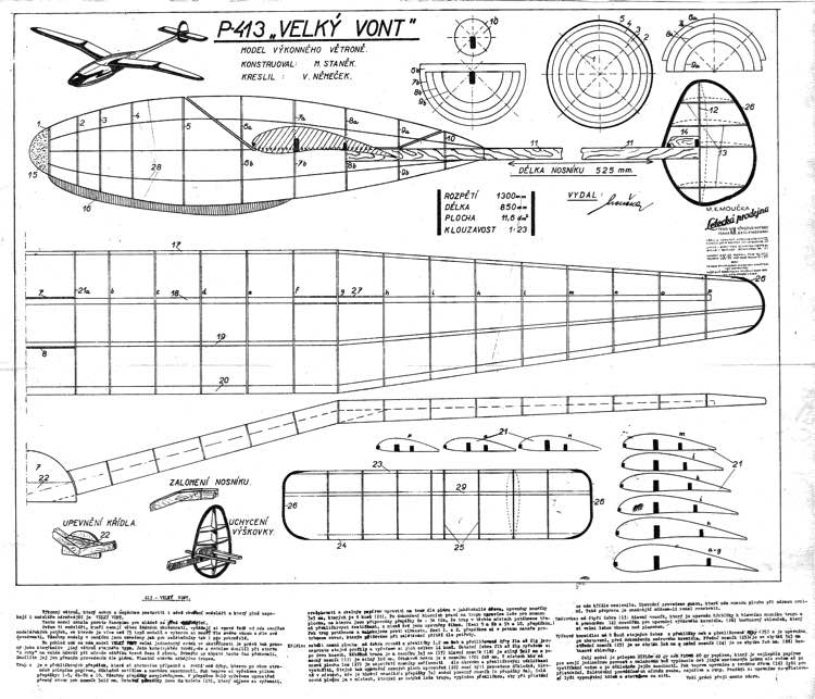 Velky Vont model airplane plan
