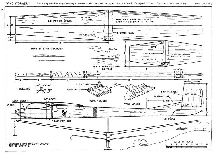 Vind Stormer FS-1 model airplane plan