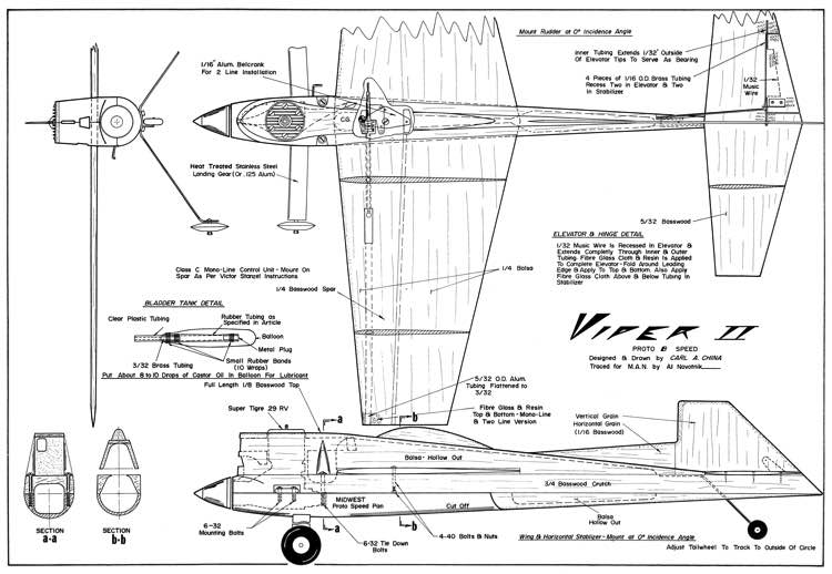 Viper II CL 24in model airplane plan