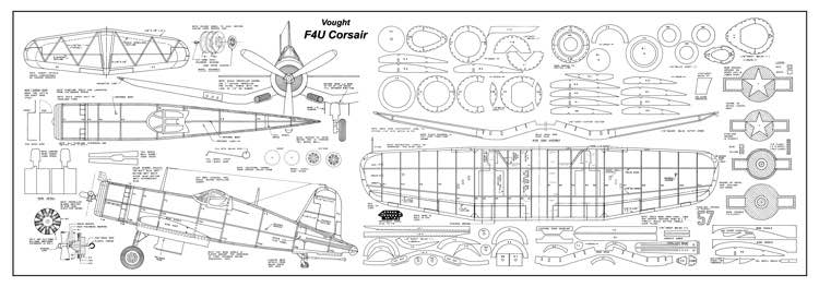 Vought F4u Corsair Plans Aerofred Download Free Model