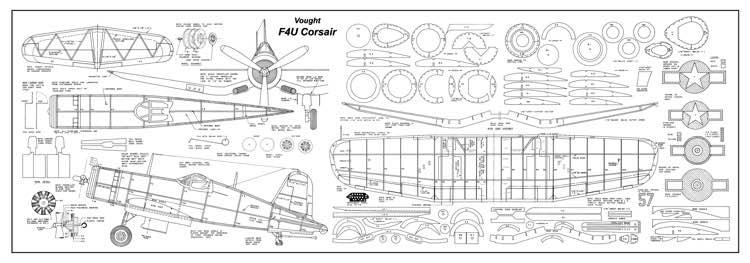 Vought F4u Corsair Plans Aerofred Download Free Model