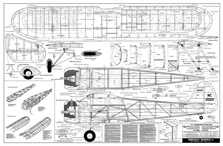 Waco cabin plans aerofred download free model airplane for Cabin design software free download