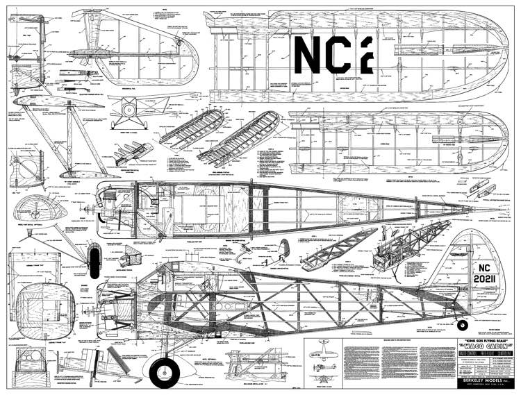 WacoCabin model airplane plan