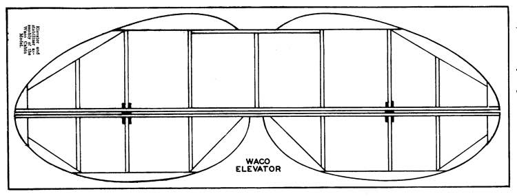 Waco Cabin p5 model airplane plan
