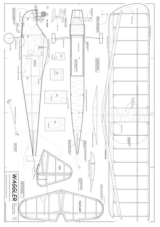 Waggler model airplane plan