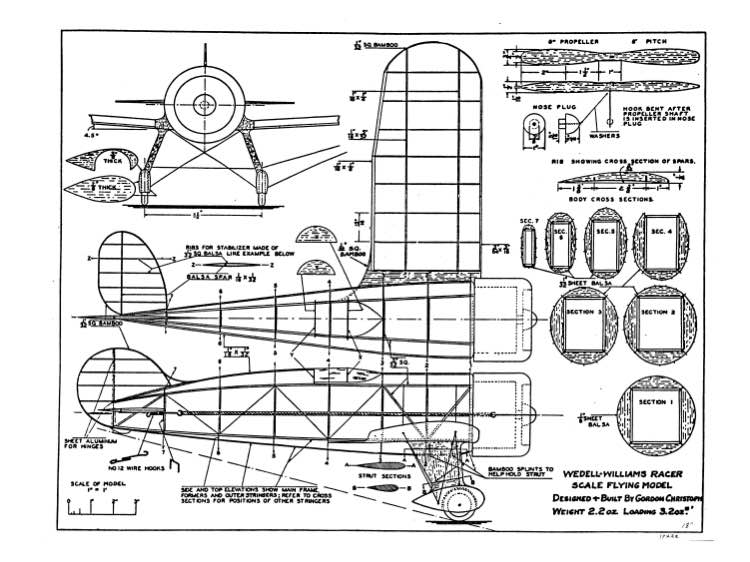 Wedell Williams Racer Plans - Aerofred