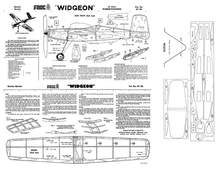 Widgeon 300dpi model airplane plan