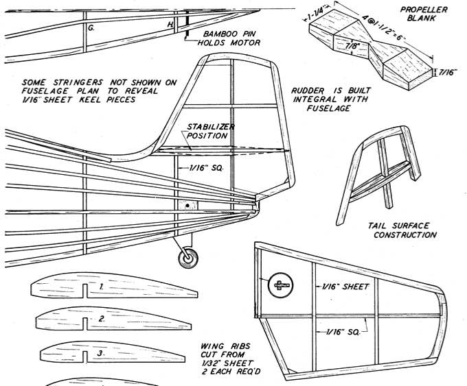Wildcat 3 model airplane plan