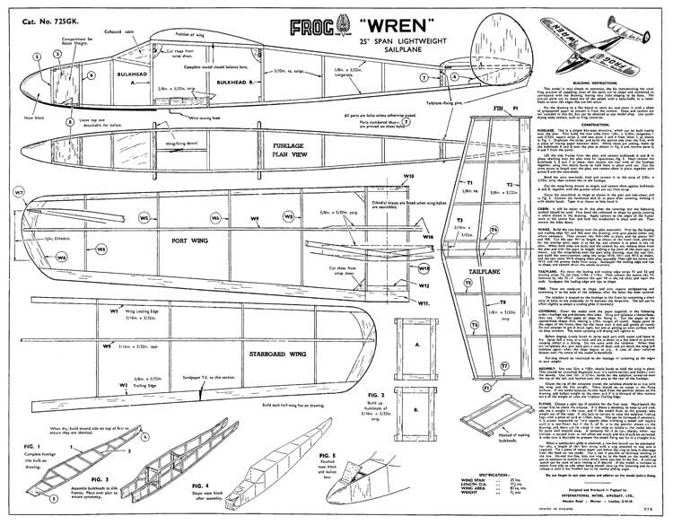 Wren model airplane plan