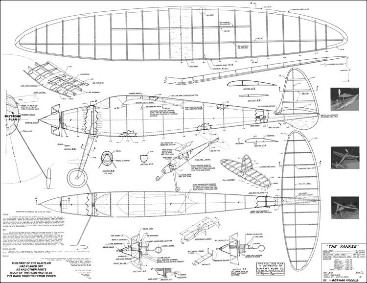 Yankee model airplane plan