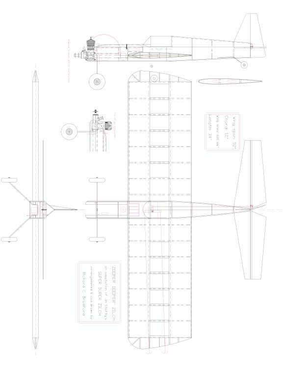 ZILCH Model 1 model airplane plan
