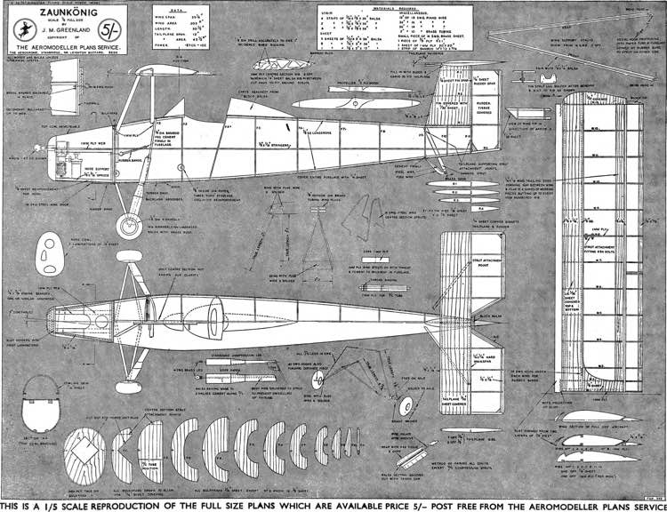 Zaunkönig model airplane plan