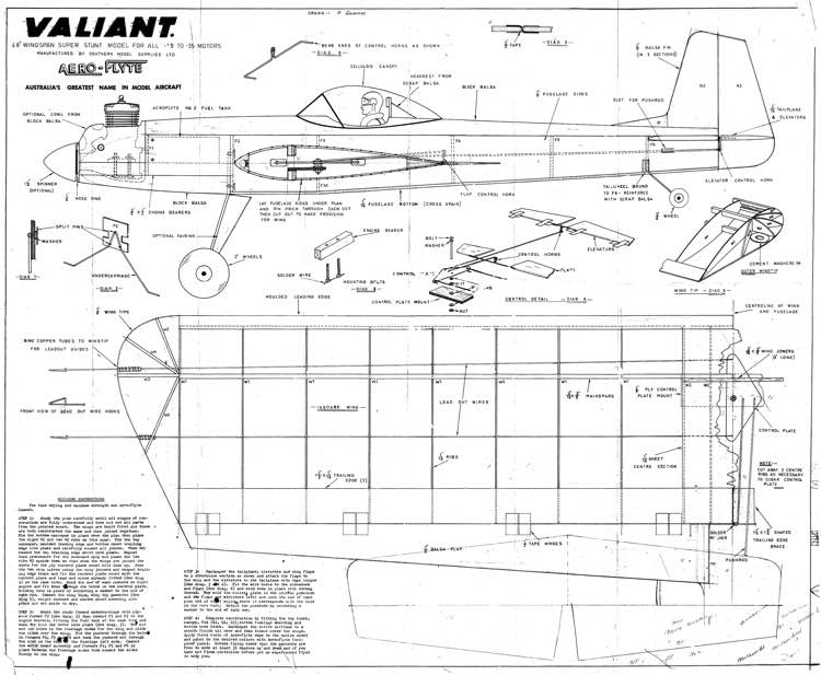 af valiant model airplane plan