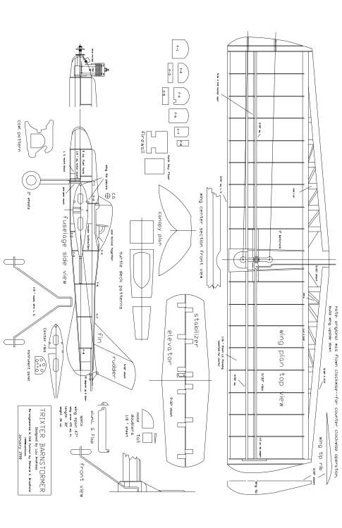 BARN Model 1 model airplane plan