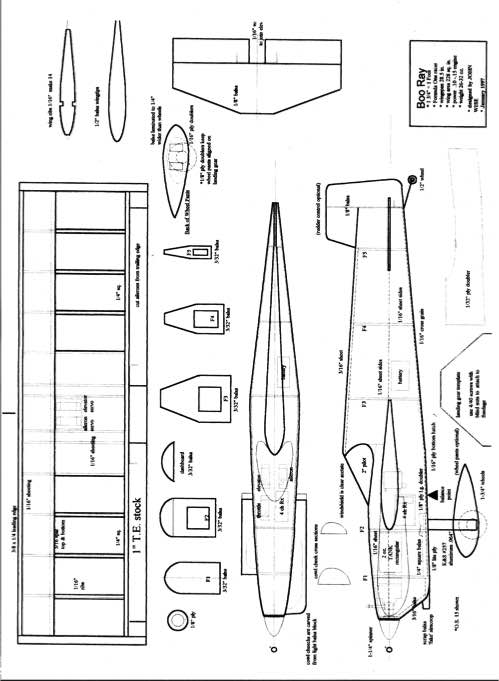 boorey model airplane plan