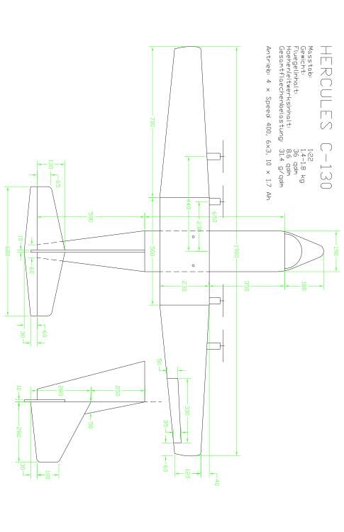 C130 Model 1 model airplane plan