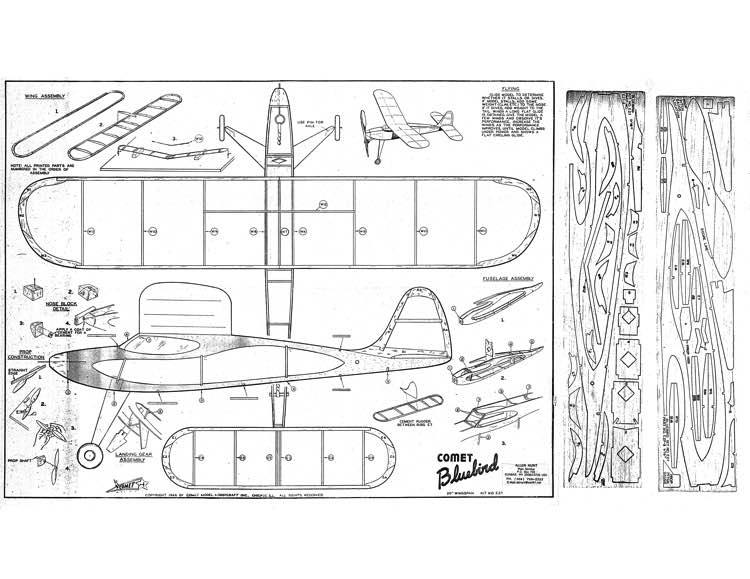 comet bluebird model airplane plan