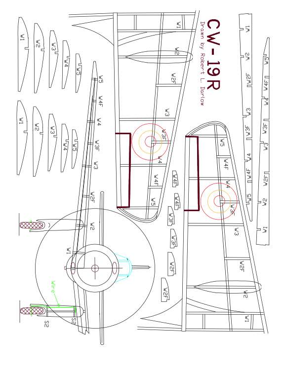 CW-19R-Model-1 model airplane plan