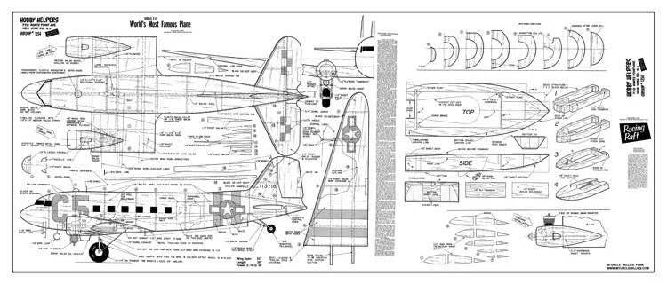 DouglasC47 model airplane plan