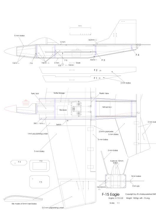 f15 model airplane plan