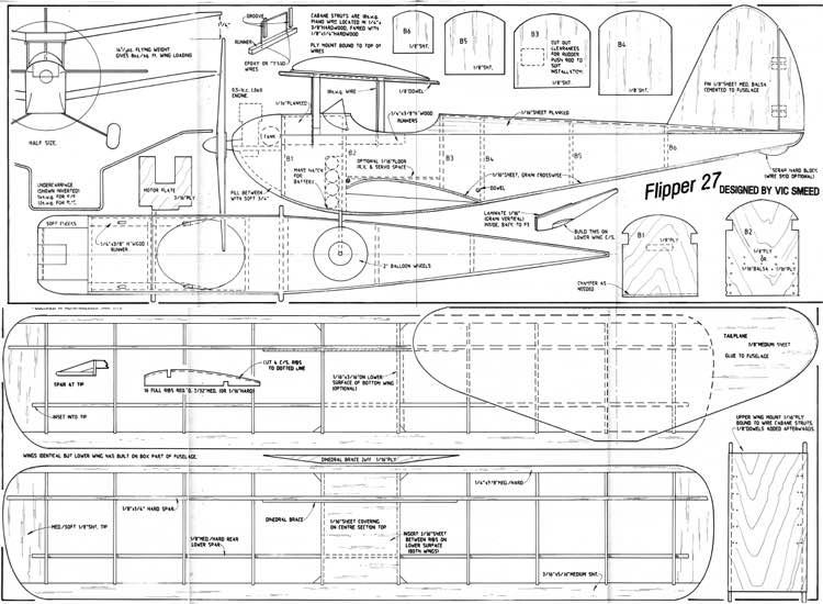 flipper27 model airplane plan