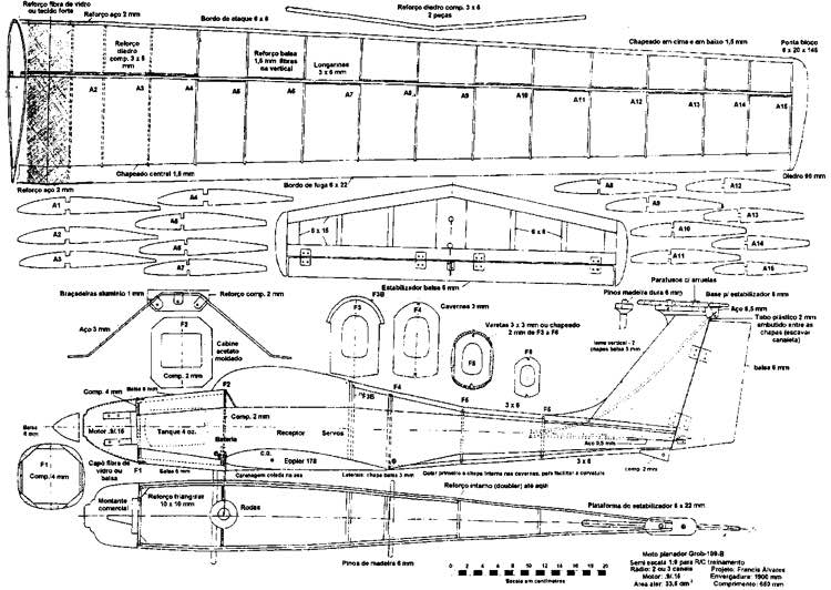 grob109 B model airplane plan