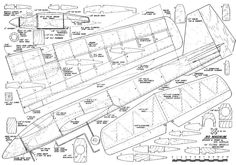 magnun01 model airplane plan