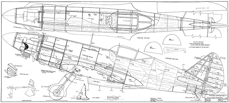 Mig-3 model airplane plan