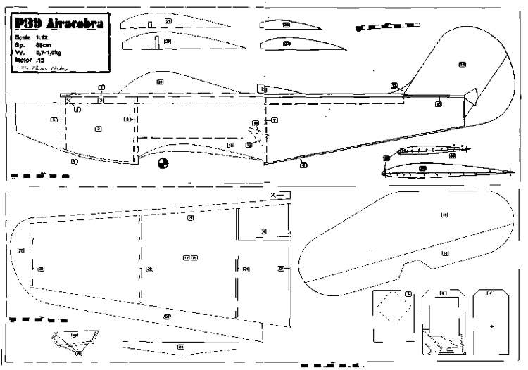 p39 model airplane plan