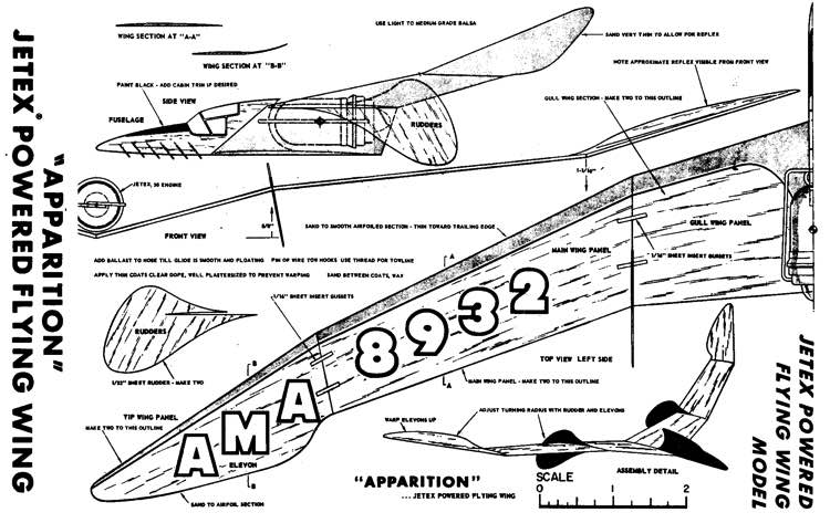 plnapparition model airplane plan