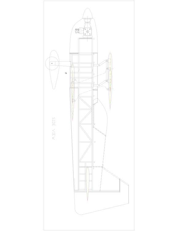 rd346b-4 Model 1 model airplane plan
