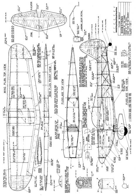 schoestring model airplane plan