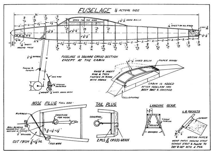 stoutp1 model airplane plan