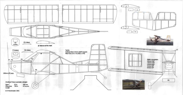 Amethyst Falcon - Ultralight model airplane plan