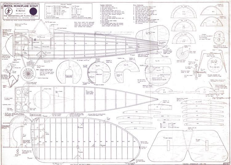 Bristol Monoplane Scout Plans - Aerofred