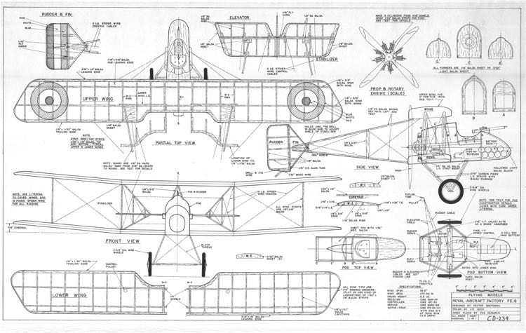 FE-8 model airplane plan