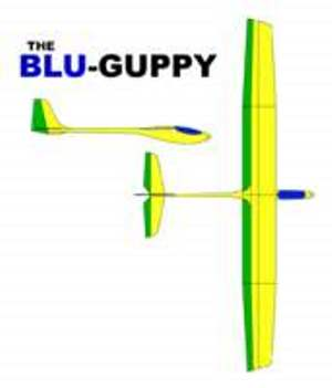 Blu Guppy model airplane plan