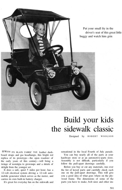 car-sidewalkclassic model airplane plan