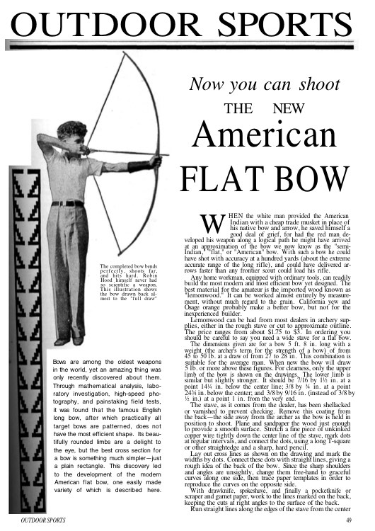 flatbow model airplane plan
