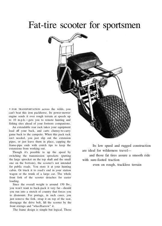 mini-bike model airplane plan