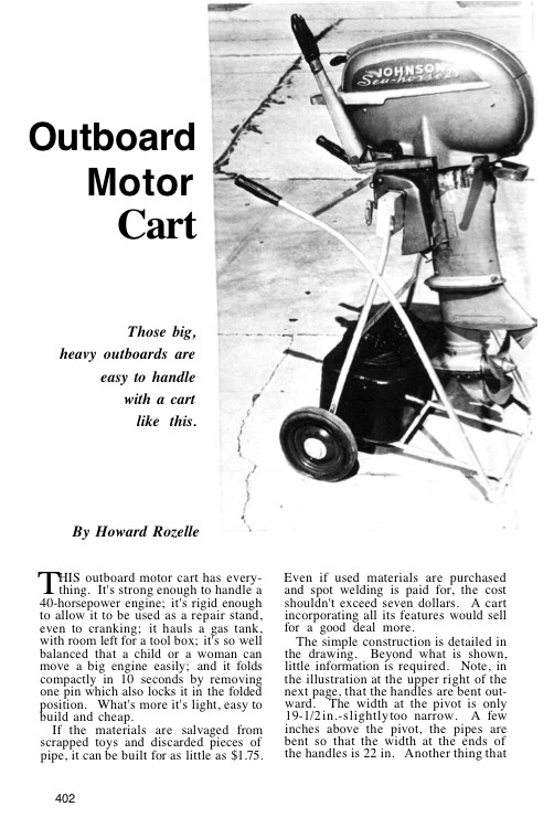 outboardcart model airplane plan