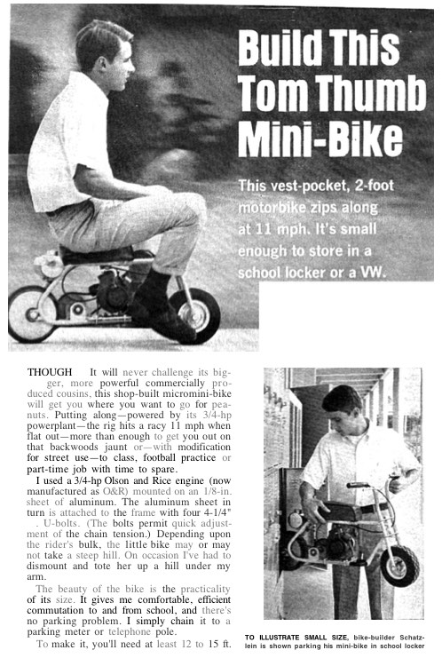 pocket-bike model airplane plan